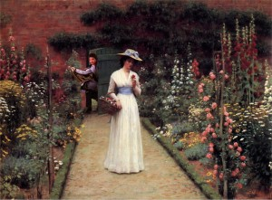 lando in the garden edmund blair leighton