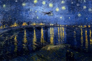 starry wars night over the rhone